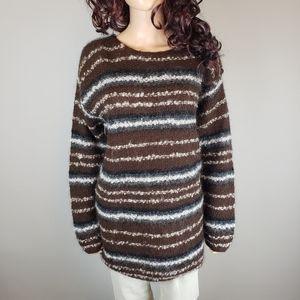 ✿❀ Vintage Jones NY Brown Mohair Sweater  ❀✿